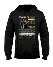 Firefighter Girlfriend Clock Ability Moon Hooded Sweatshirt thumbnail