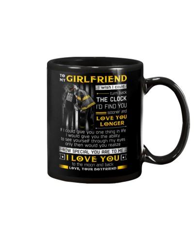 Firefighter Girlfriend Clock Ability Moon