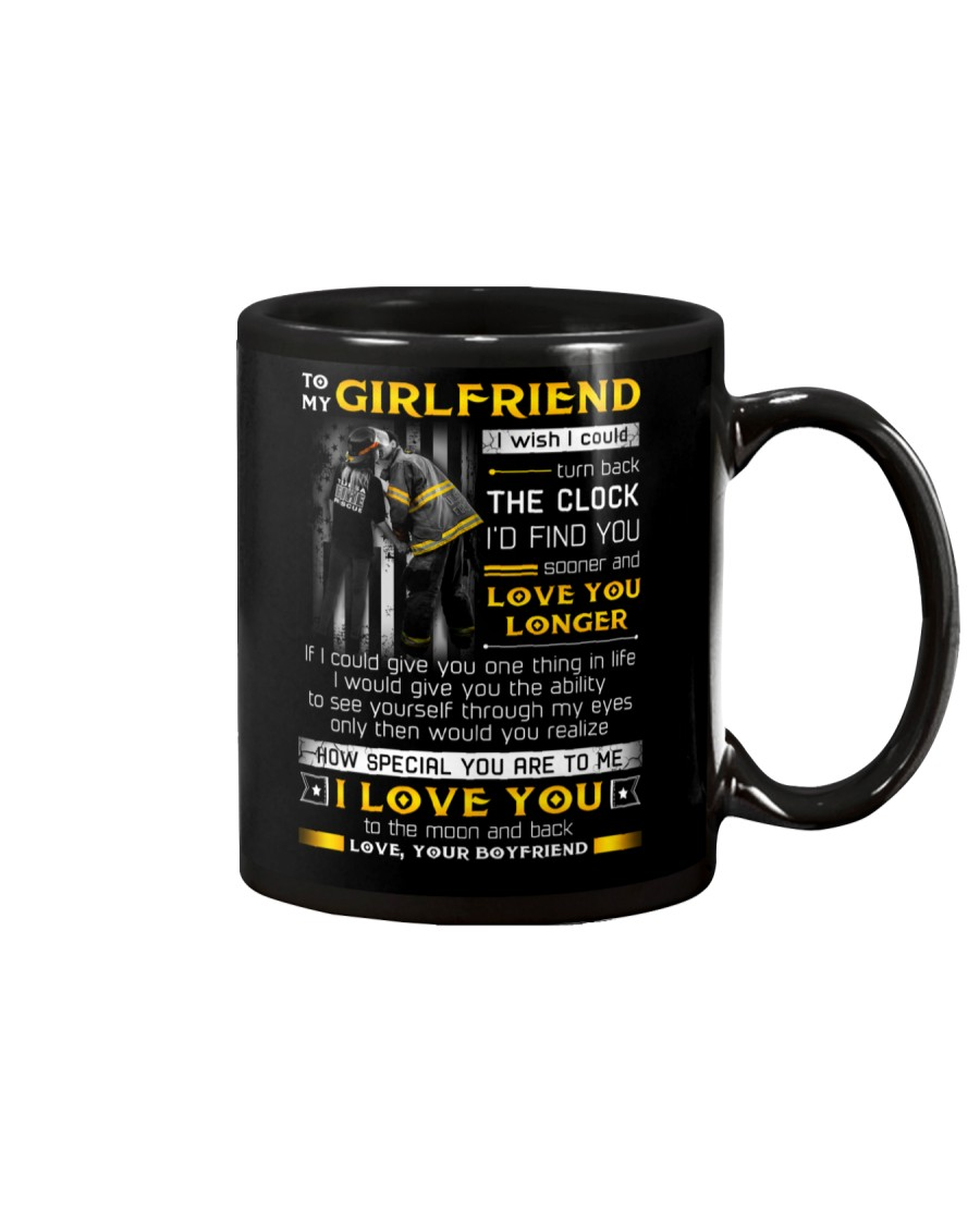 Firefighter Girlfriend Clock Ability Moon Mug