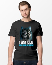 I Am Old For Good Reason Wolf Classic T-Shirt lifestyle-mens-crewneck-front-15