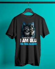 I Am Old For Good Reason Wolf Classic T-Shirt lifestyle-mens-crewneck-front-3