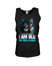 I Am Old For Good Reason Wolf Unisex Tank thumbnail