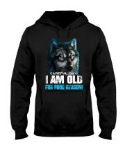 I Am Old For Good Reason Wolf Hooded Sweatshirt thumbnail