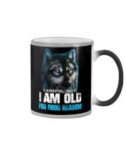 I Am Old For Good Reason Wolf Color Changing Mug thumbnail
