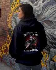 That Does Not Kill Shieldmaiden Should Run Hooded Sweatshirt lifestyle-unisex-hoodie-back-1