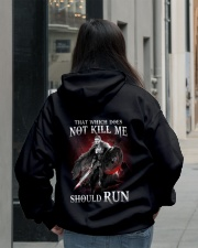 That Does Not Kill Shieldmaiden Should Run Hooded Sweatshirt lifestyle-unisex-hoodie-back-2