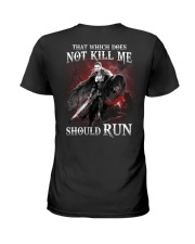 That Does Not Kill Shieldmaiden Should Run Ladies T-Shirt thumbnail