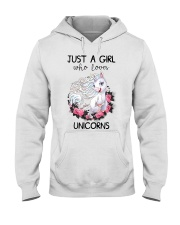 Just A Girl Who Love Unicorns Hooded Sweatshirt thumbnail