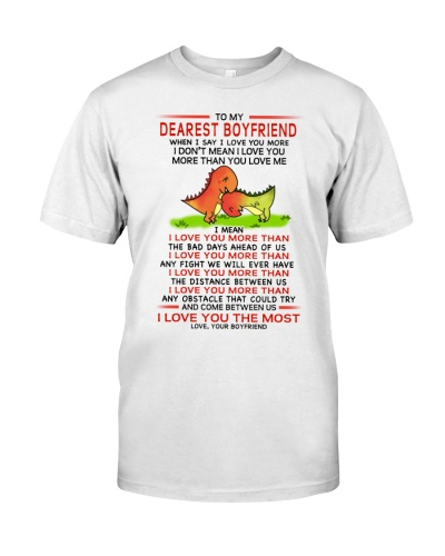 Dinosaur Boyfriend I Love You Most Mug