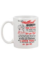 Family Husband Clock Everything Moon Mug back