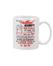 Family Husband Clock Everything Moon Mug front