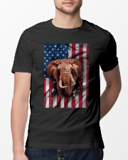 American Flag Elephant Classic T-Shirt lifestyle-mens-crewneck-front-13