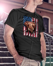 American Flag Elephant Classic T-Shirt lifestyle-mens-crewneck-front-5