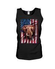 American Flag Elephant Unisex Tank thumbnail