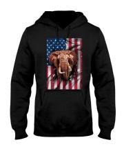 American Flag Elephant Hooded Sweatshirt thumbnail