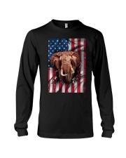 American Flag Elephant Long Sleeve Tee thumbnail