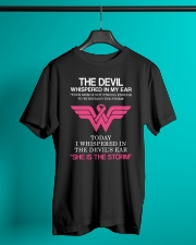 Breast Cancer My Mom Is The Storm  Classic T-Shirt lifestyle-mens-crewneck-front-3