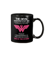 Breast Cancer My Mom Is The Storm  Mug thumbnail