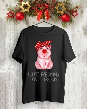 Farmer freaking love pigs Classic T-Shirt lifestyle-holiday-crewneck-front-2