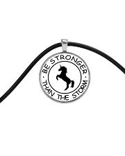 Unicorn Be Stronger Than The Storm Cord Circle Necklace thumbnail