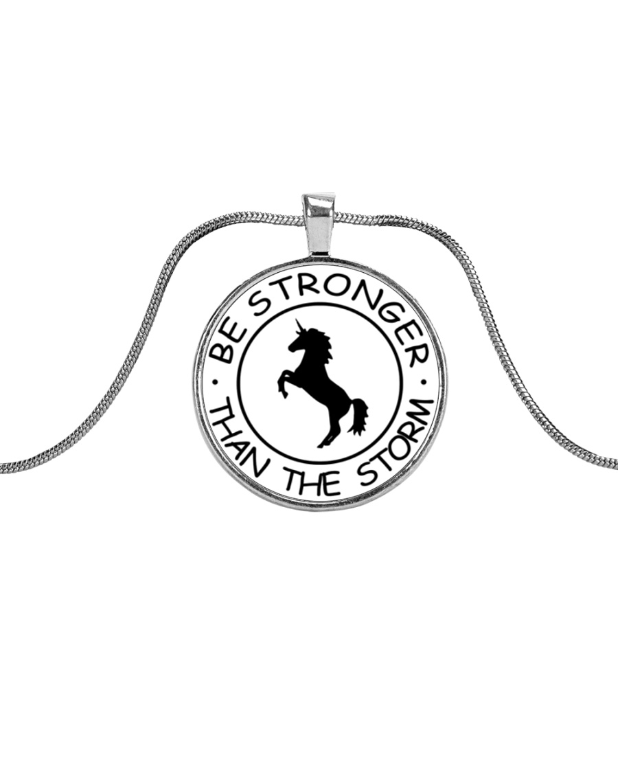 Unicorn Be Stronger Than The Storm Metallic Circle Necklace