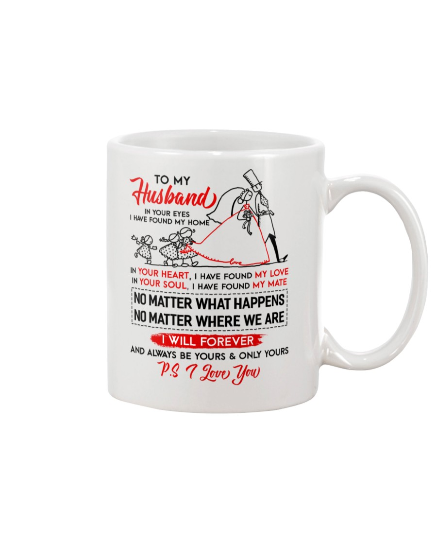 Family Husband In Your Eyes I Have Found My Home Mug