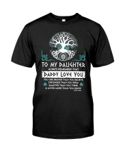 Viking Daddy Loves You Daughter Dad Classic T-Shirt thumbnail
