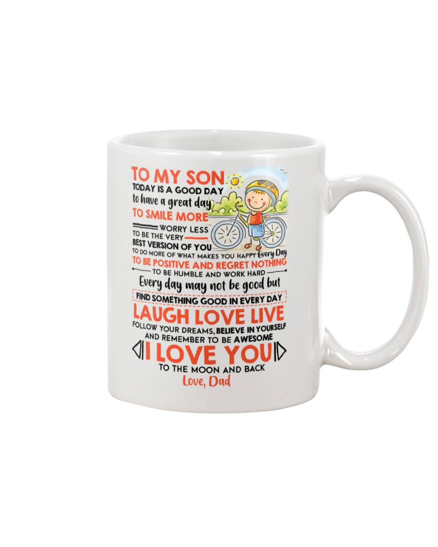 Family Son Dad Today Is A Good Day  Mug