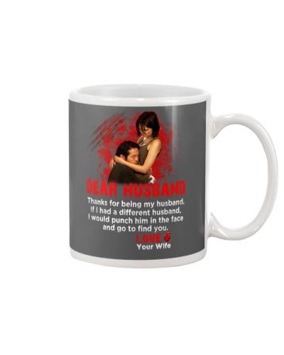 Dear husband TWD mug