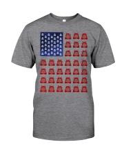Trucker American flag shirt Classic T-Shirt front