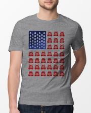 Trucker American flag shirt Classic T-Shirt lifestyle-mens-crewneck-front-13