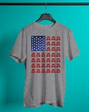 Trucker American flag shirt Classic T-Shirt lifestyle-mens-crewneck-front-3