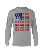 Trucker American flag shirt Long Sleeve Tee thumbnail