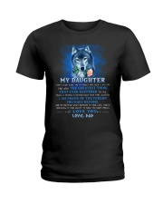 Wolf Dad Daughter Don't Forget I Love You Ladies T-Shirt thumbnail