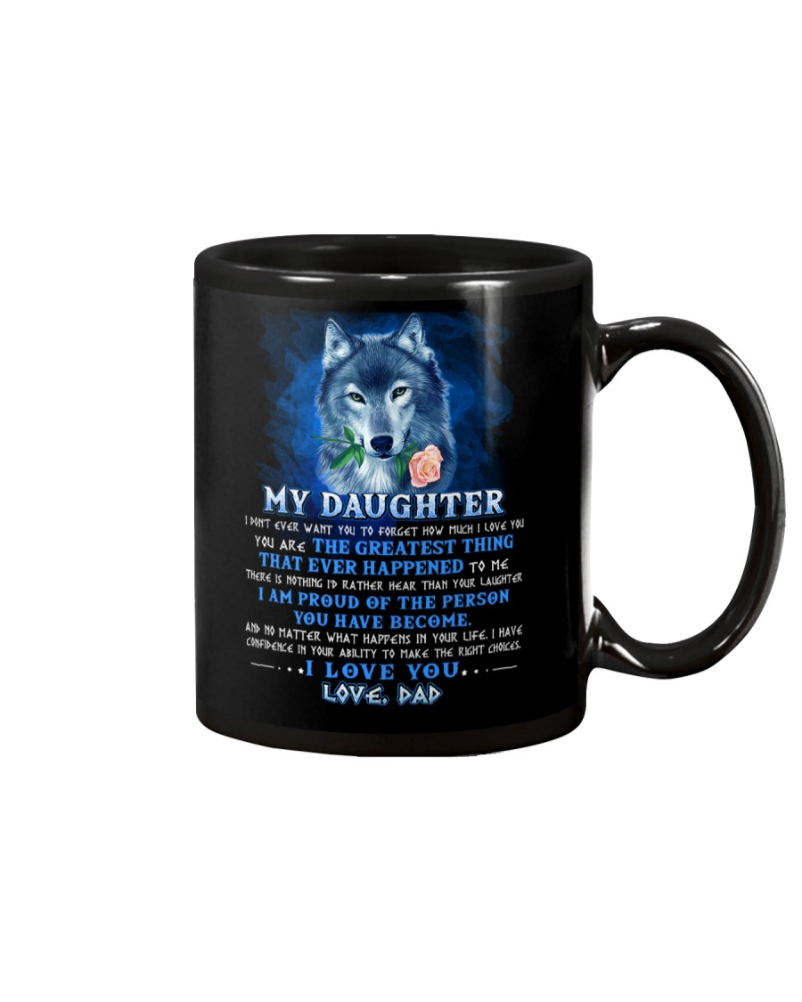 Wolf Dad Daughter Don't Forget I Love You Mug