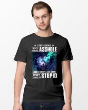 Wolf Stop Asking Asshole Classic T-Shirt lifestyle-mens-crewneck-front-15