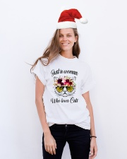 Just A Woman Who Loves Cats Shirt Classic T-Shirt lifestyle-holiday-crewneck-front-1
