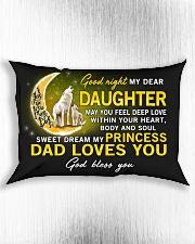 Wolf Sweet Dream My Princess Daughter  Rectangular Pillowcase aos-pillow-rectangle-front-lifestyle-4