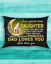 Wolf Sweet Dream My Princess Daughter  Rectangular Pillowcase aos-pillow-rectangle-front-lifestyle-5