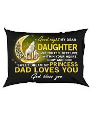 Wolf Sweet Dream My Princess Daughter  Rectangular Pillowcase back