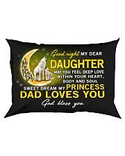 Wolf Sweet Dream My Princess Daughter  Rectangular Pillowcase front