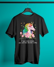 Unicorn Listen Closely  Classic T-Shirt lifestyle-mens-crewneck-front-3