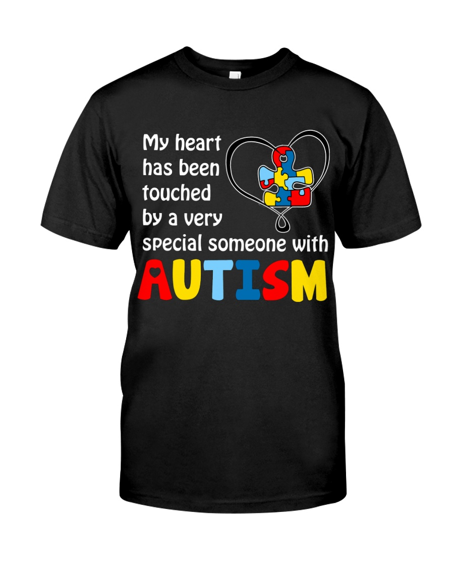 My Heart Touched By autism Classic T-Shirt