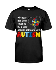 My Heart Touched By autism Classic T-Shirt front