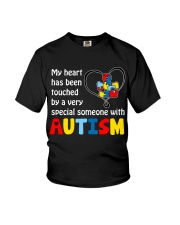 My Heart Touched By autism Youth T-Shirt thumbnail