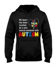 My Heart Touched By autism Hooded Sweatshirt thumbnail