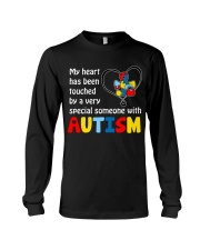 My Heart Touched By autism Long Sleeve Tee thumbnail