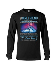 Dolphin Girlfriend Clock Ability Moon Long Sleeve Tee thumbnail