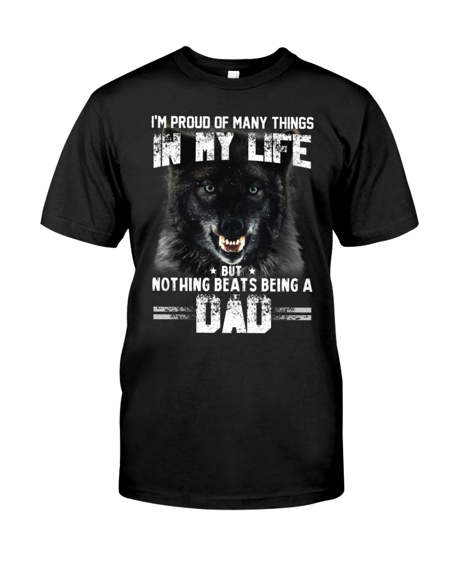 Proud Dad Wolf  Classic T-Shirt