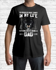 Proud Dad Wolf  Classic T-Shirt lifestyle-mens-crewneck-front-1
